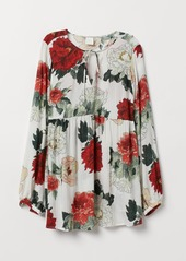H&M H & M - MAMA Patterned Blouse - White