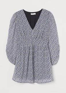 H&M H & M - MAMA Patterned Chiffon Blouse - Black
