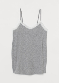 H&M H & M - MAMA Ribbed Cotton Camisole - Gray