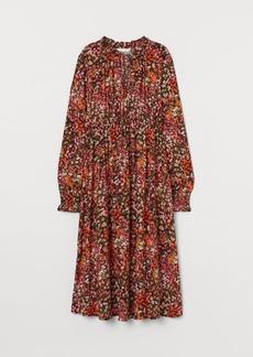 H&M H & M - MAMA Ruffled Collar Dress - Black