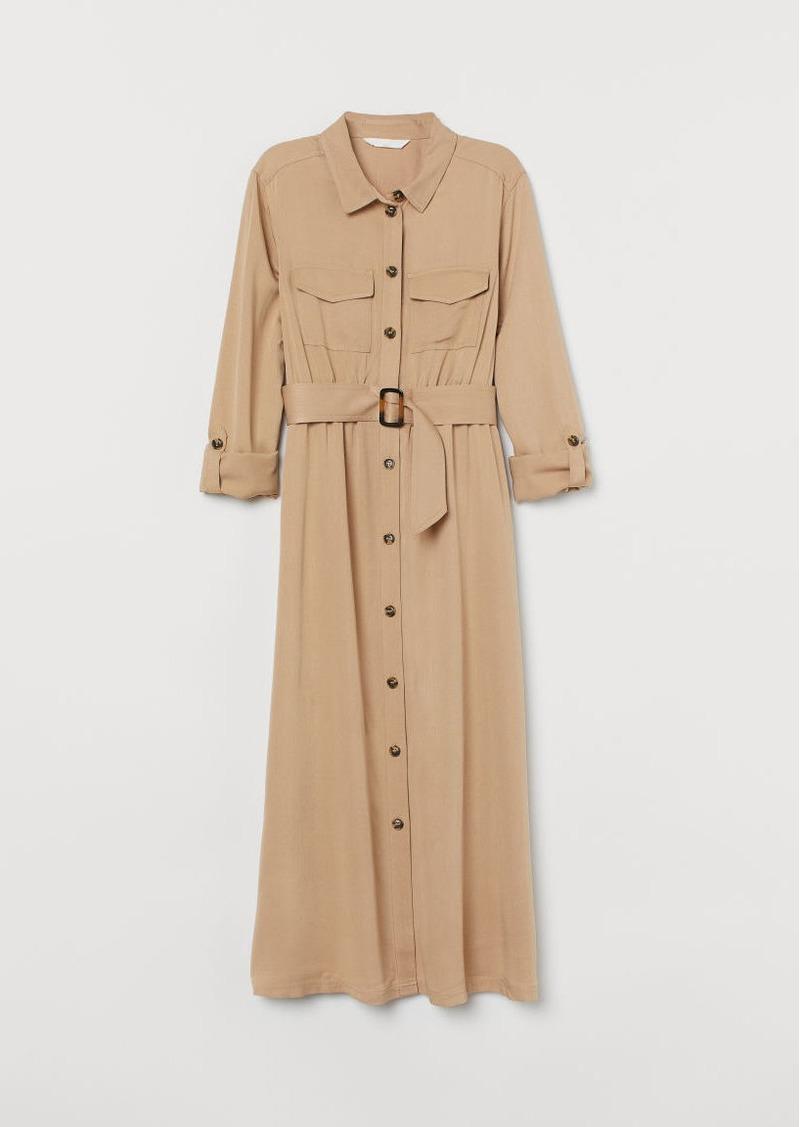 H&M H & M - MAMA Shirt Dress - Beige