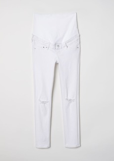 H&M H & M - MAMA Skinny Ankle Jeans - White