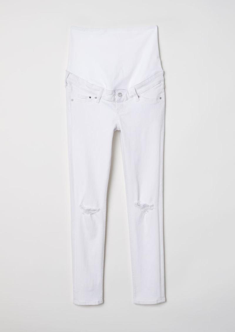 e0f28f285c57c H&M H & M - MAMA Skinny Ankle Jeans - White