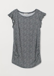 H&M H & M - MAMA Top with Flounced Sleeves - Blue