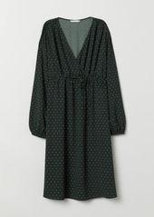H&M H & M - MAMA V-neck Blouse - Green