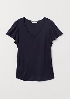 H&M H & M - MAMA V-neck Top - Blue