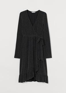 H&M H & M - MAMA Wrap Dress - Black