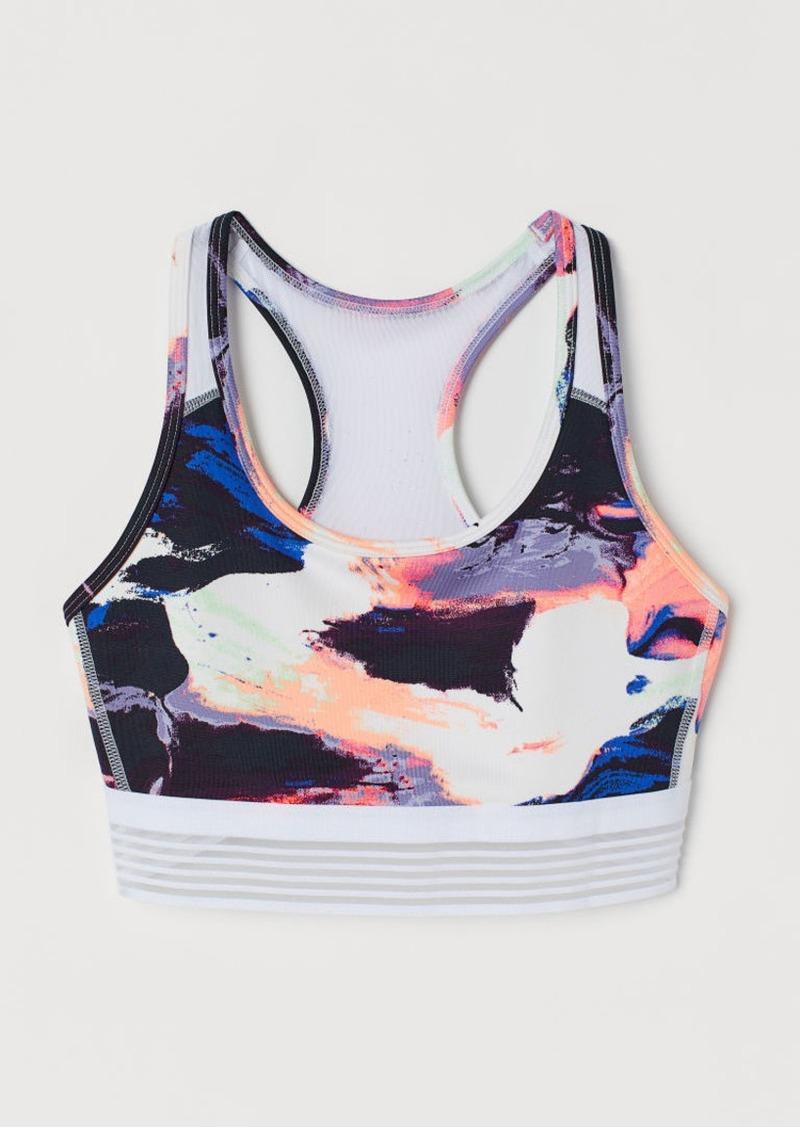H&M H & M - Medium Support Sports Bra - White