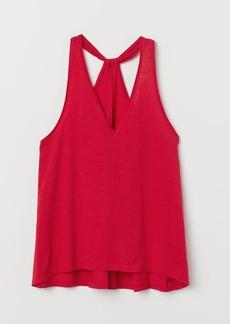 H&M H & M - Melange Jersey Tank Top - Red