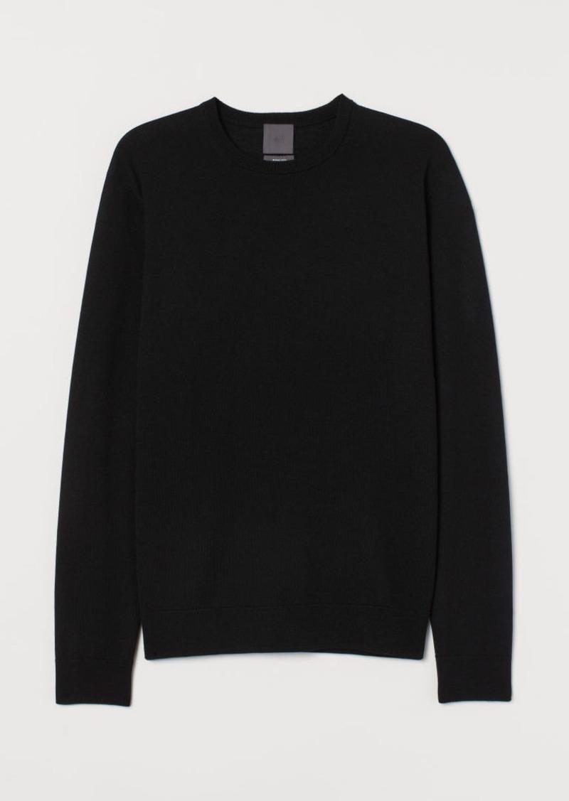 H&M H & M - Merino Wool Sweater - Black