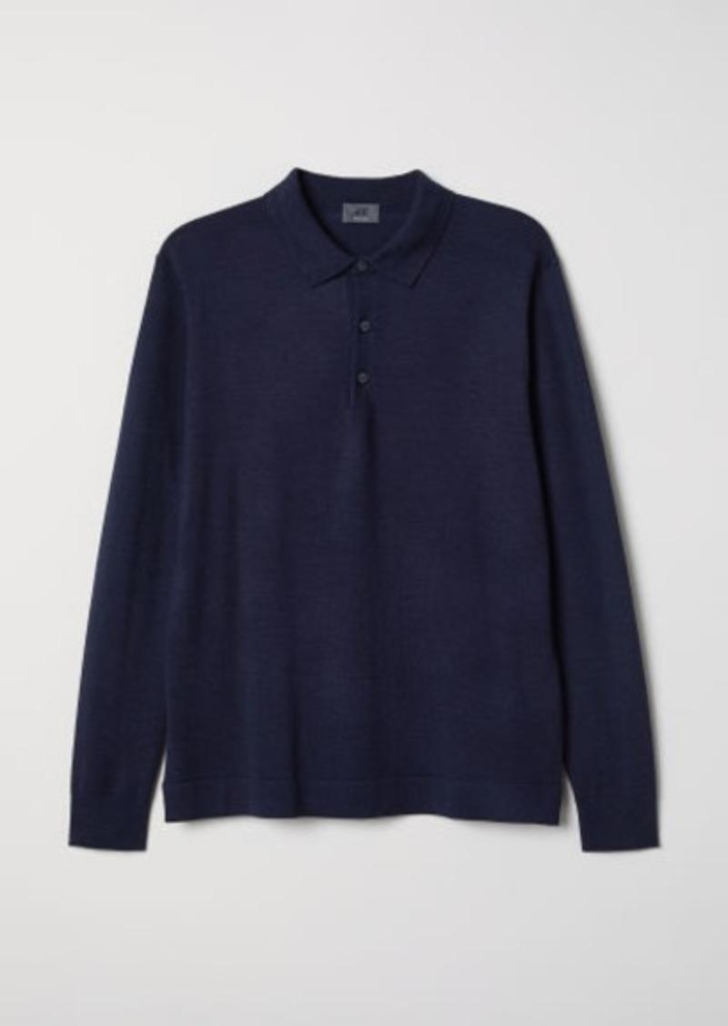 H&M H & M - Merino Wool Sweater - Blue