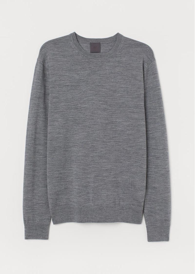 H&M H & M - Merino Wool Sweater - Gray