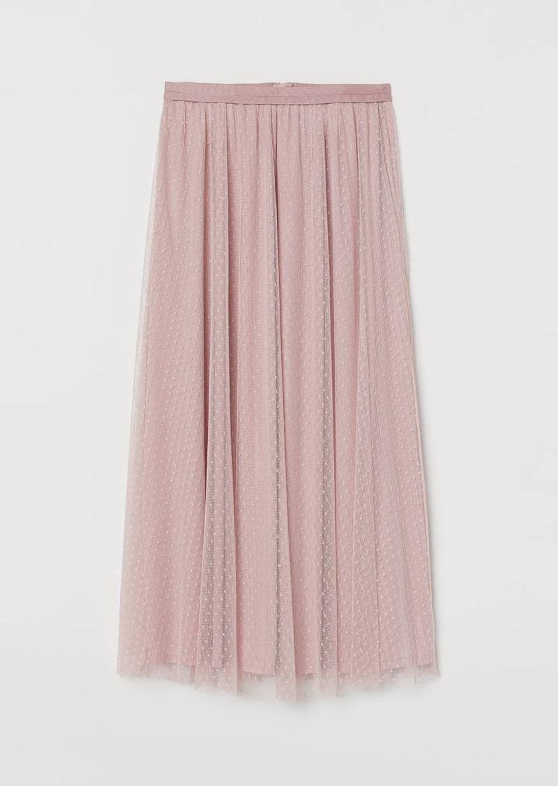 H&M H & M - Mesh Skirt - Pink
