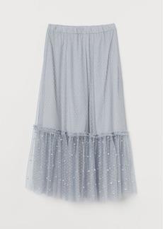 H&M H & M - Mesh Skirt - Turquoise