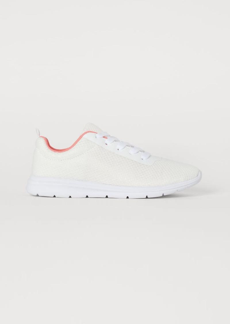 H&M H & M - Mesh Sneakers - White