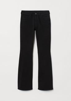 H&M H & M - Mini Flare High Jeans - Black