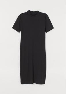 H&M H & M - Mock-turtleneck Dress - Black