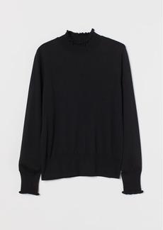 H&M H & M - Mock Turtleneck Sweater - Black