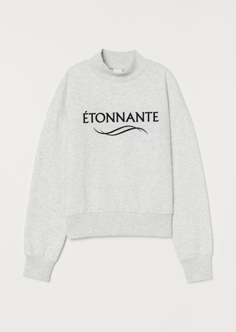H&M H & M - Mock-turtleneck Sweatshirt - Gray