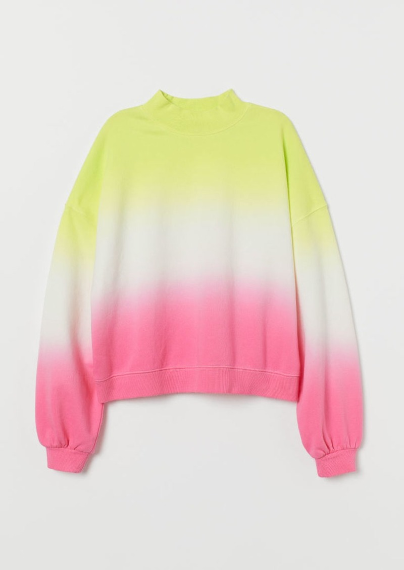 H&M H & M - Mock-turtleneck Sweatshirt - Yellow