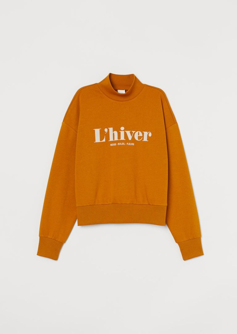 H&M H & M - Mock-turtleneck Sweatshirt - Yellow