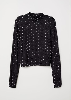 H&M H & M - Mock Turtleneck Top - Black