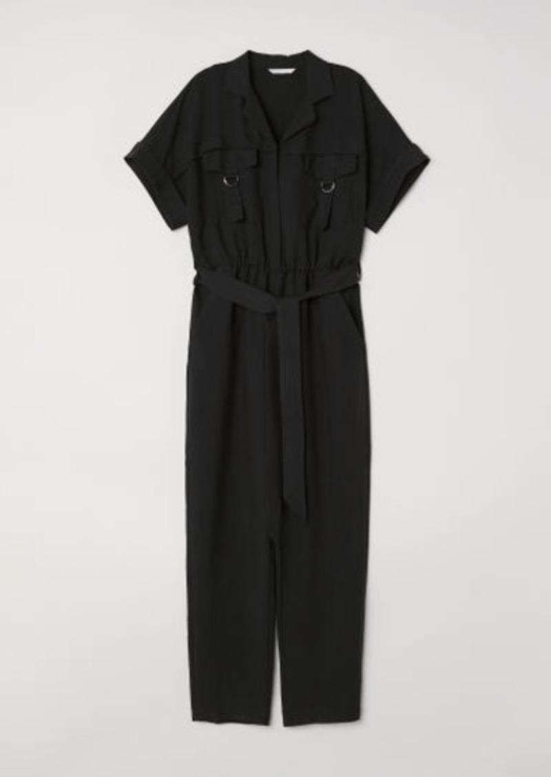 H&M H & M - Modal-blend Jumpsuit - Black