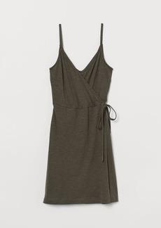 H&M H & M - Modal-blend Wrap Dress - Green