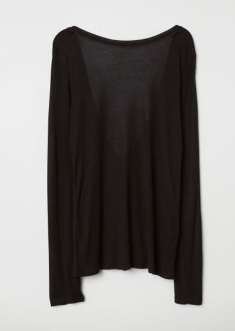 H&M H & M - Modal top - Black