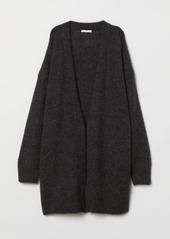 H&M H & M - Mohair-blend Cardigan - Black