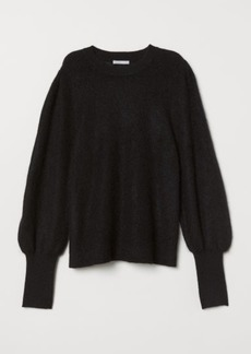 H&M H & M - Mohair-blend Sweater - Black