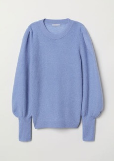 H&M H & M - Mohair-blend Sweater - Blue