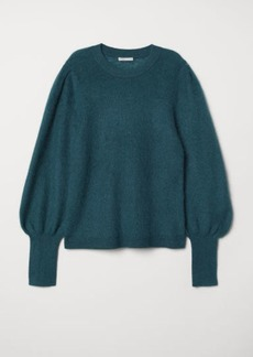 H&M H & M - Mohair-blend Sweater - Turquoise