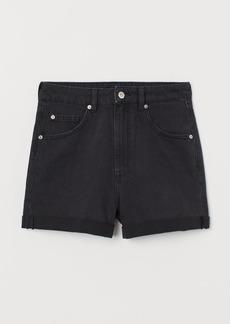 H&M H & M - Mom Fit Denim Shorts - Black