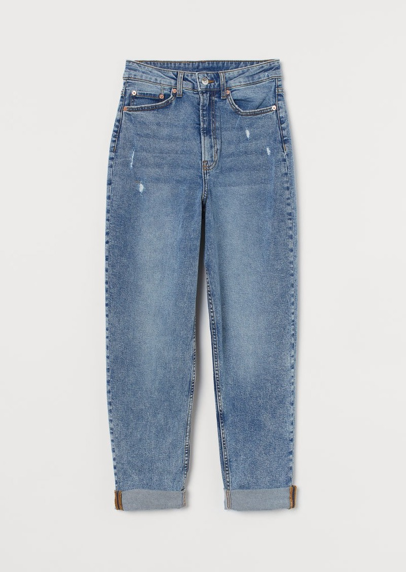 H & M - Mom High Ankle Jeans - Blue