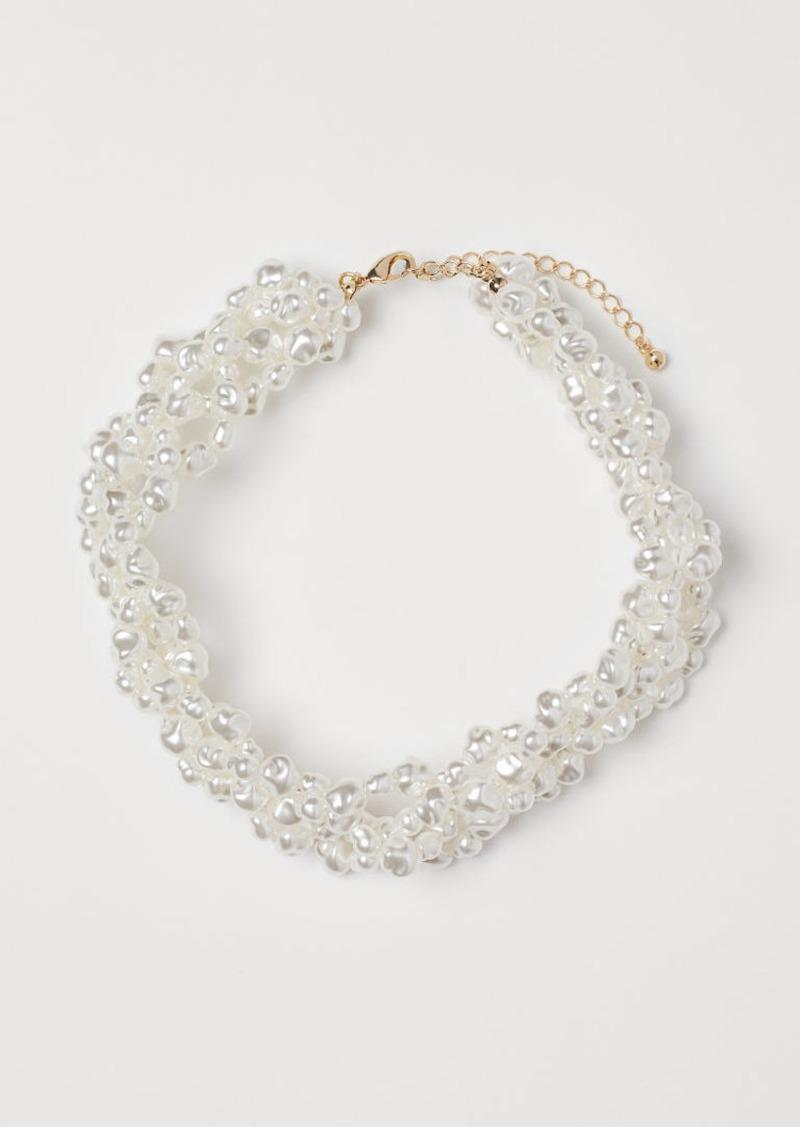 H&M H & M - Multi-strand Necklace - White