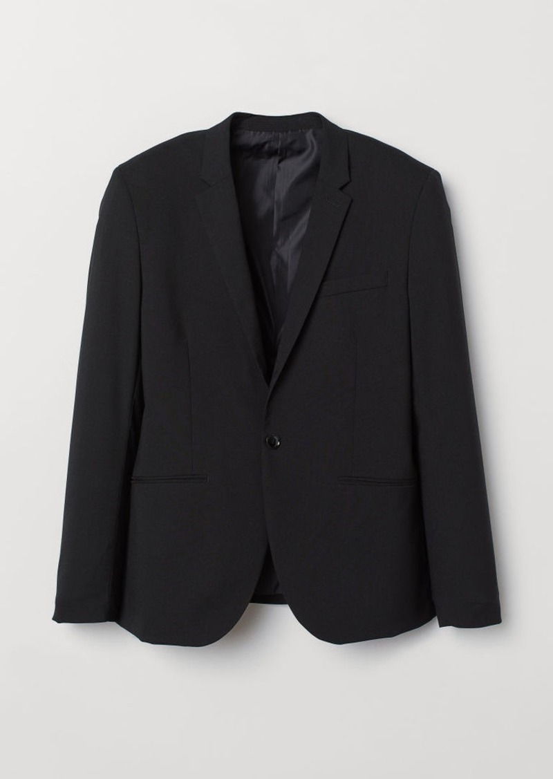 H&M H & M - Muscle Fit Blazer - Black