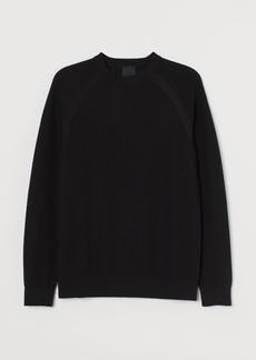 H&M H & M - Muscle Fit Knit Sweater - Black