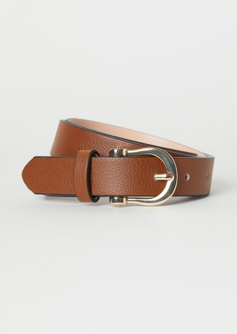 H&M H & M - Narrow Belt - Beige