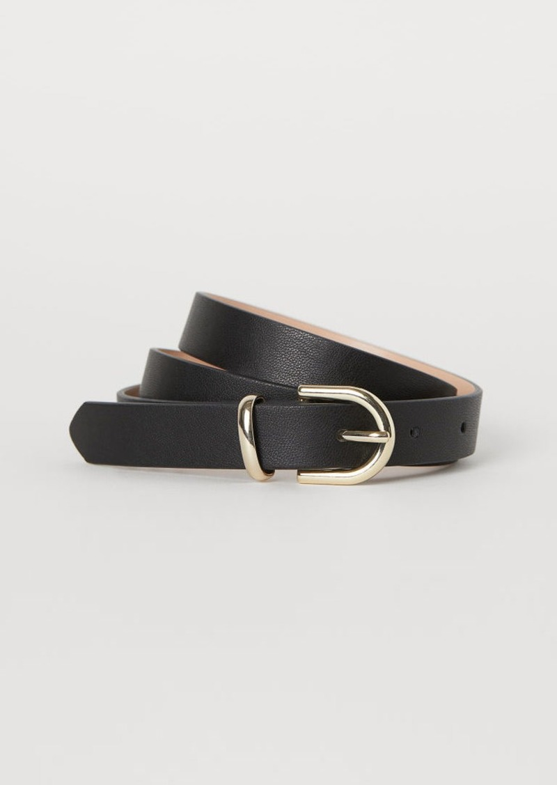 H&M H & M - Narrow Belt - Black