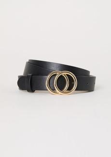H&M H & M - Narrow Belt - Black
