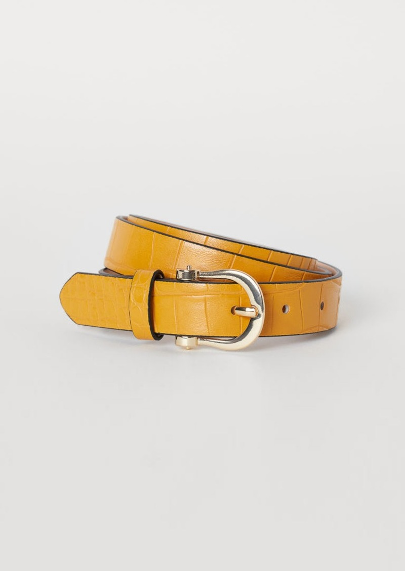 H&M H & M - Narrow Belt - Yellow