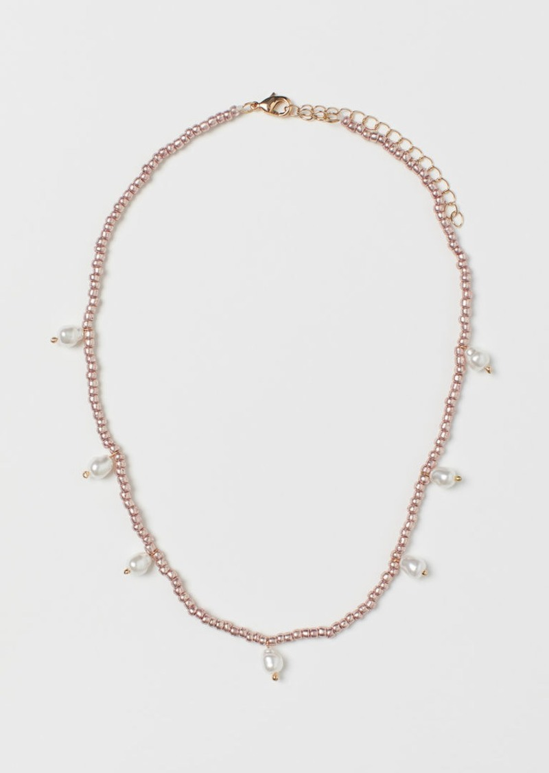 H&M H & M - Necklace with Beads - White