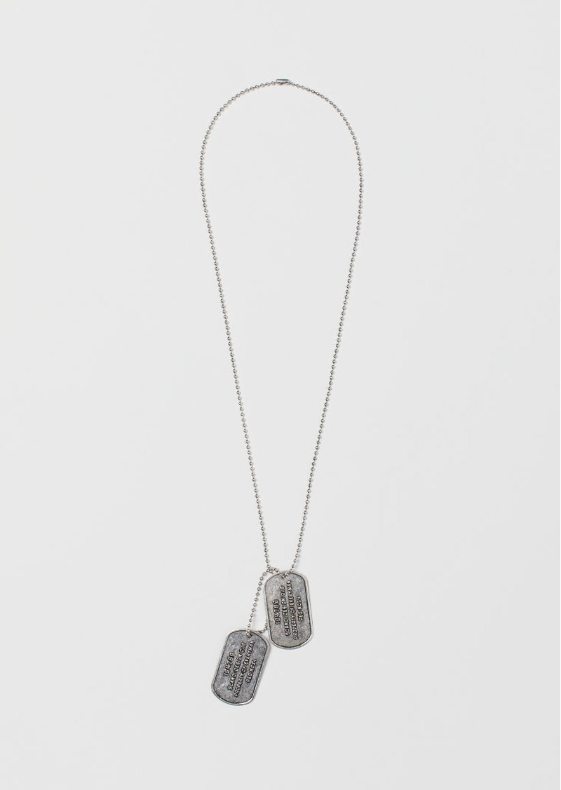 H & M - Necklace with Pendants - Silver
