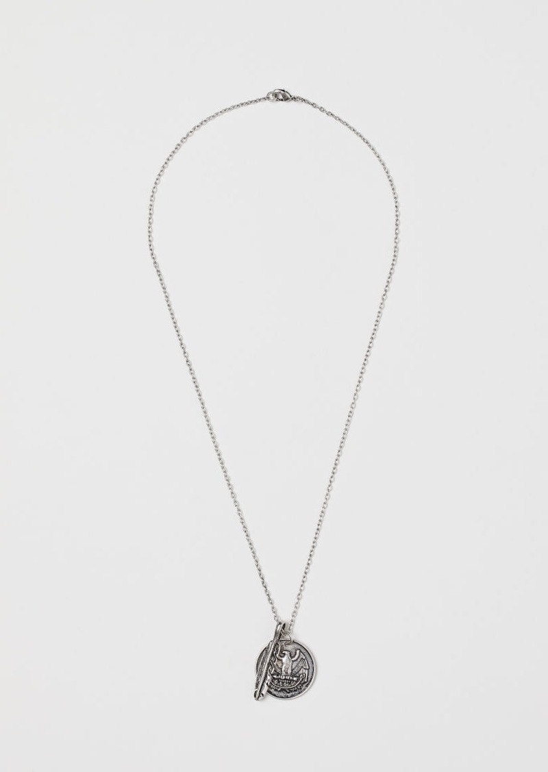H&M H & M - Necklace with Pendants - Silver