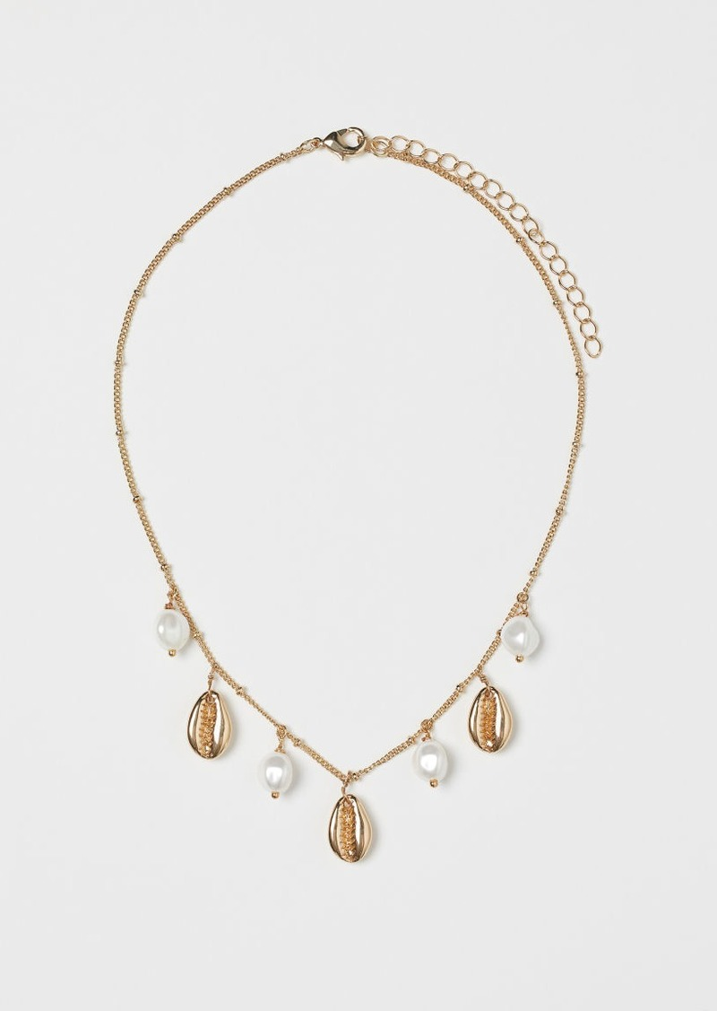 H&M H & M - Necklace with Pendants - White