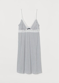 H&M H & M - Nightgown with Lace - White