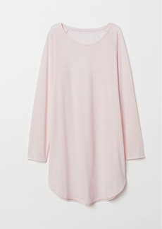 H&M H & M - Nightgown with Printed Design - Pink