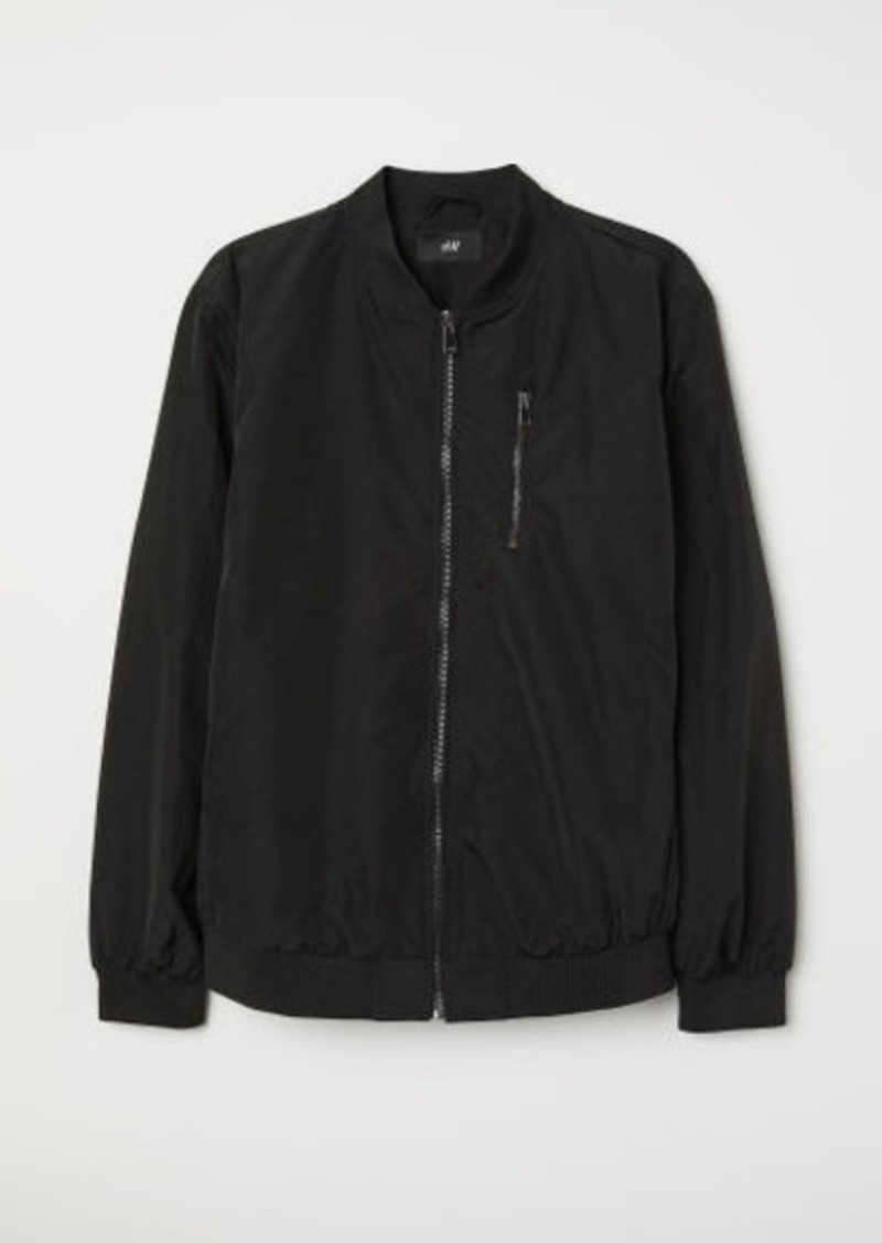 H&M H & M - Nylon-blend Bomber Jacket - Black