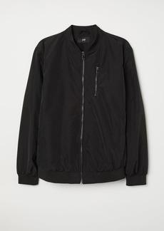 H&M H & M - Nylon-blend Bomber Jacket - Black